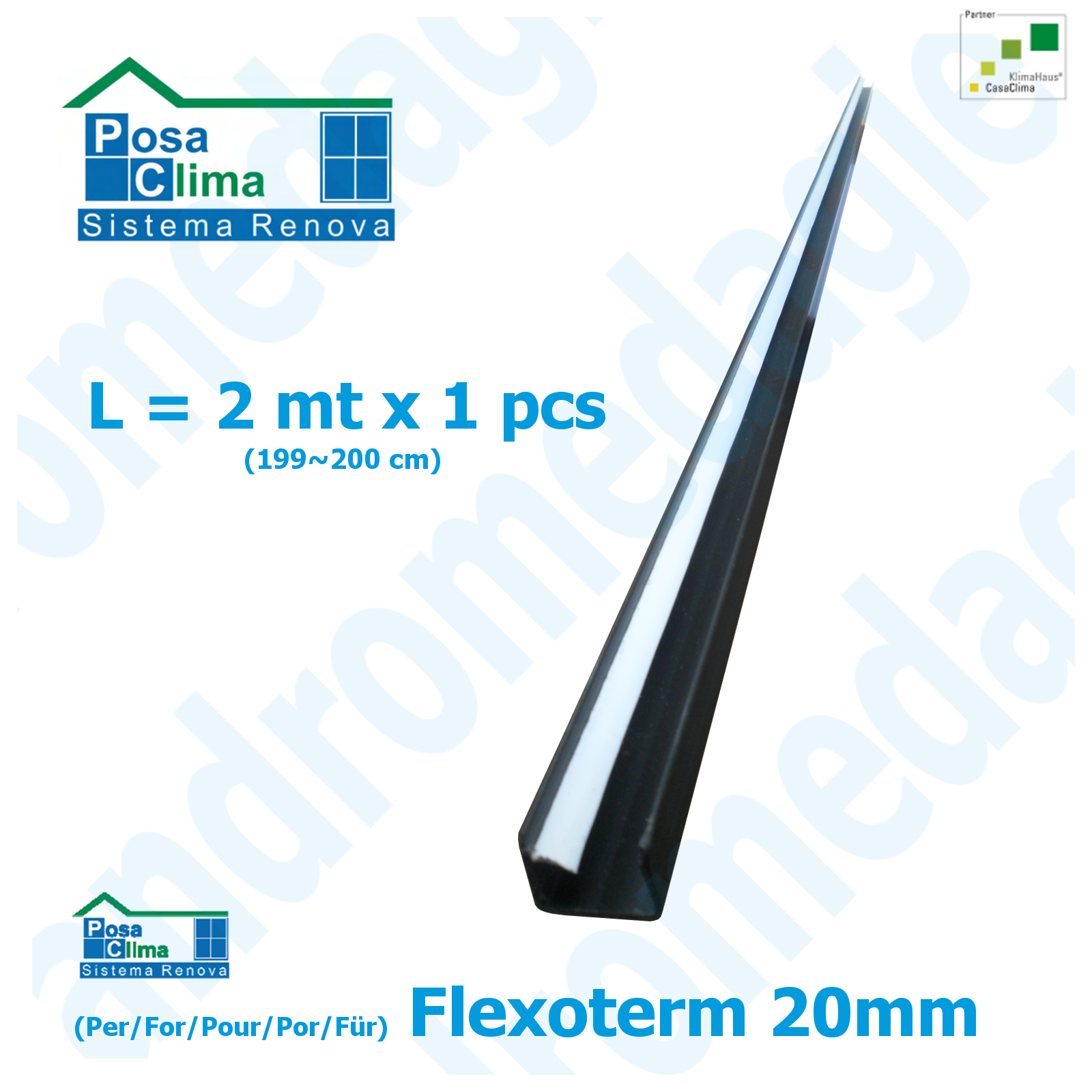 BARRA DE CONTENCION FLEXOTERM 20MM L=2MT (199~200CM)