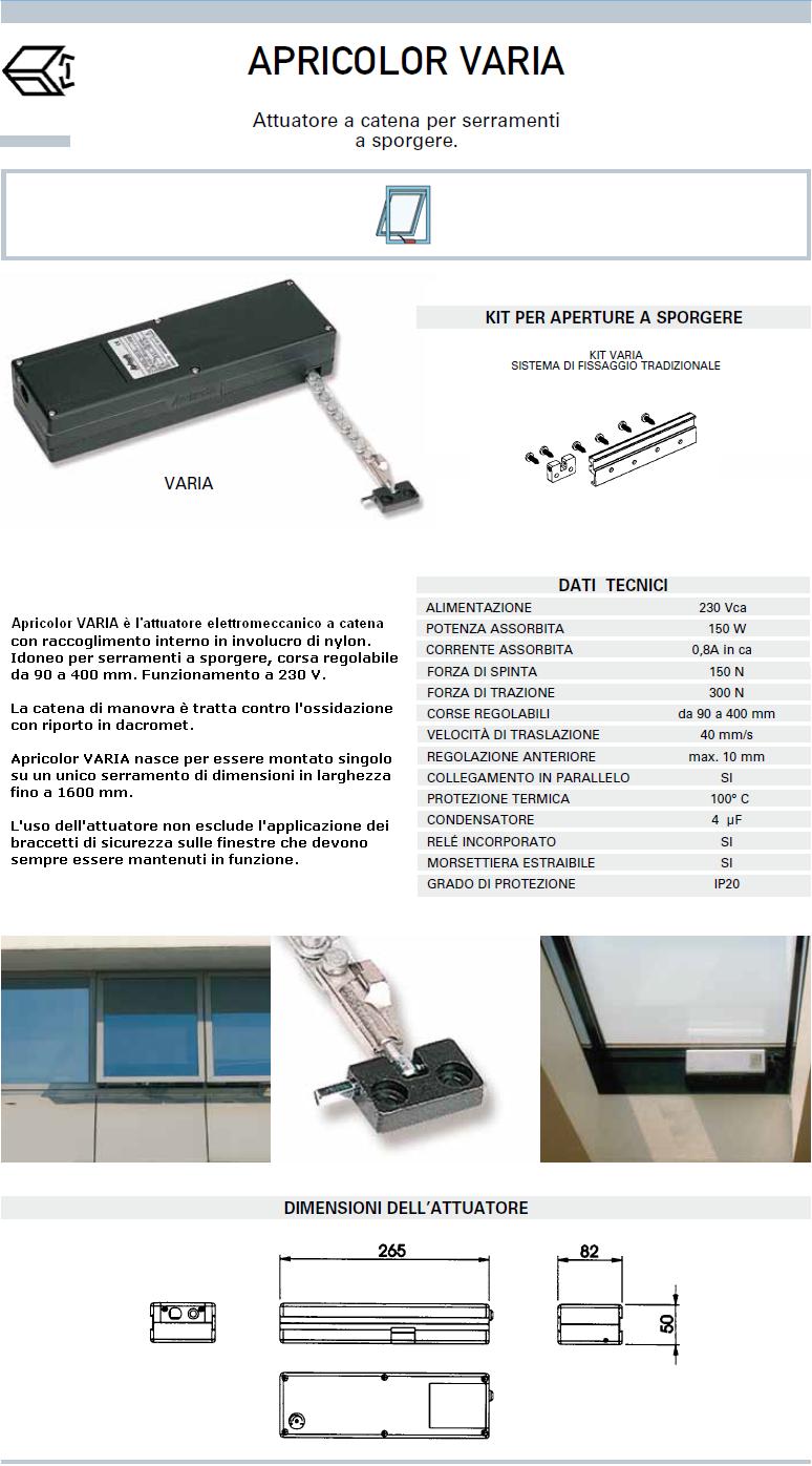 Apricolor varia 230v bianco kit sporgere attuatore a catena per finestre ebay - Finestre in kit di montaggio ...