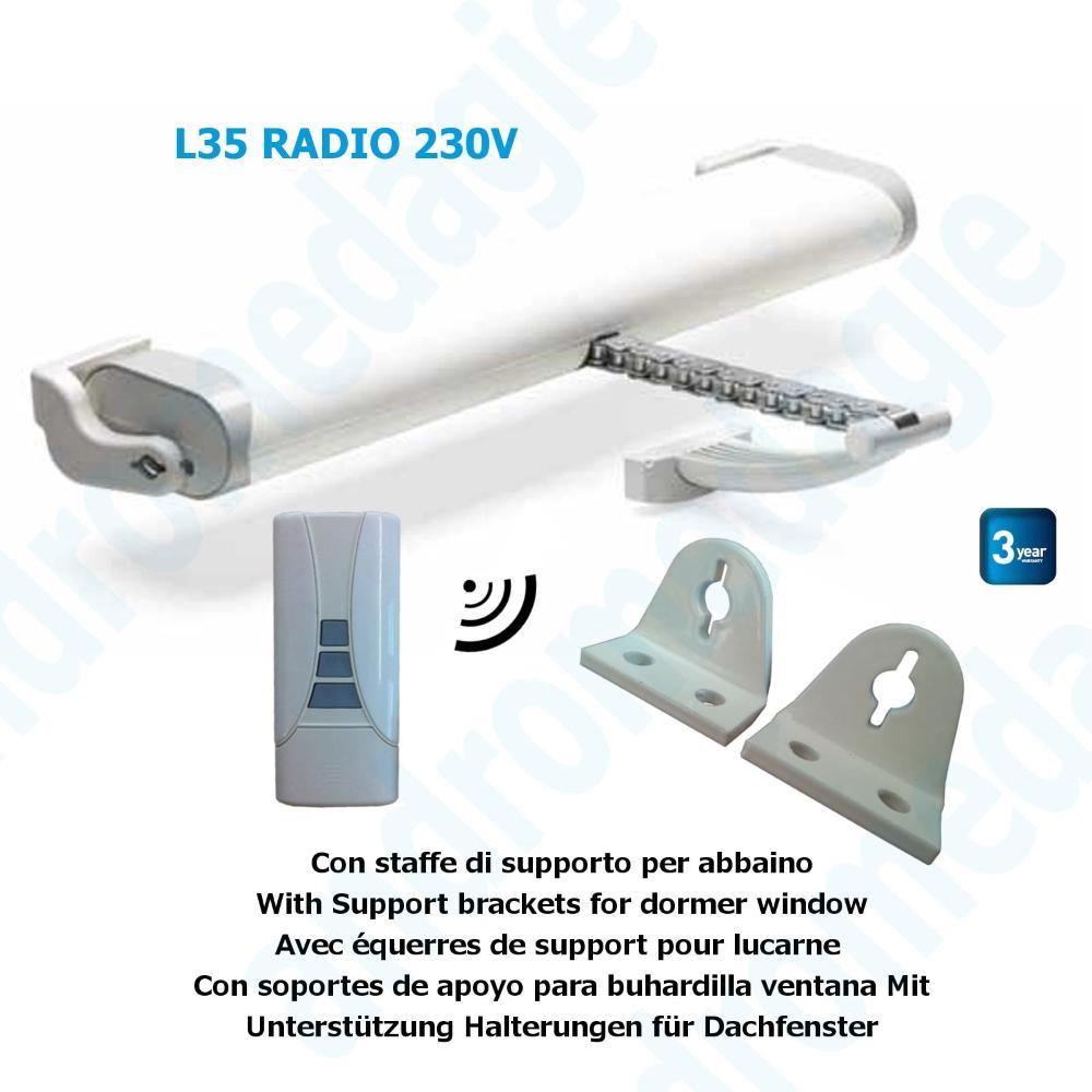 LIWIN RADIO 350N 230V WHITE + R1 CONTROL WHITE + SUPPORT DORMER WHITE