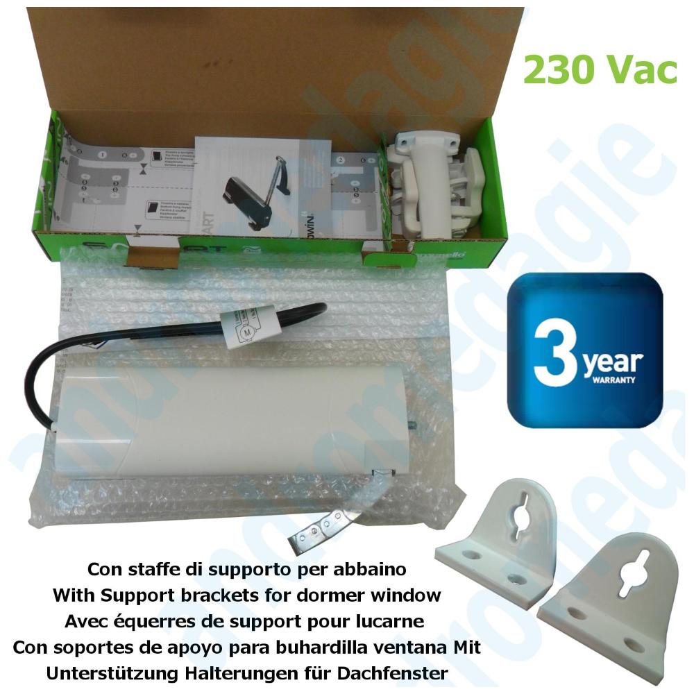 SMART 230V BLANC + SUPPORTS DE LUCARNE BLANC