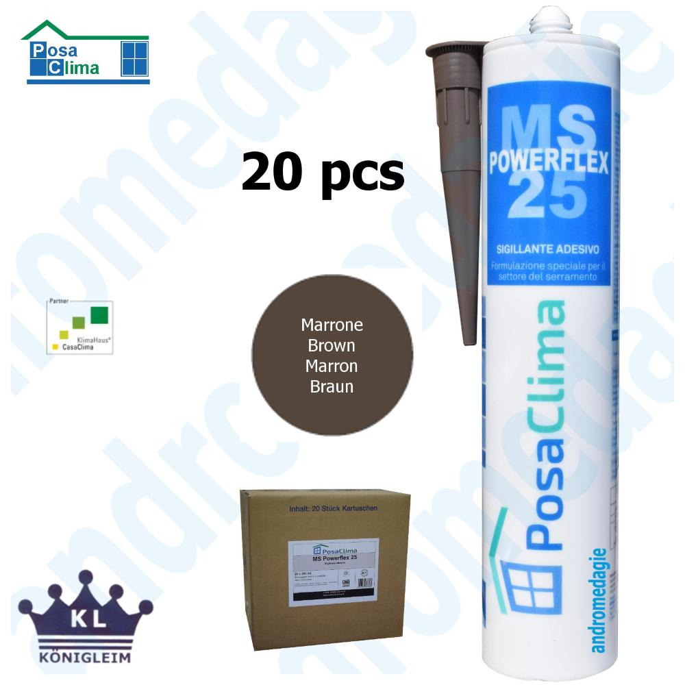 MS POLYMERE HANNO 290ML BRUN 20 PCS