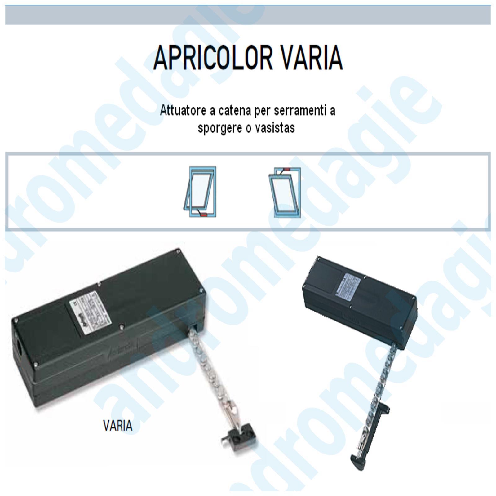 APRICOLOR VARIA 230V GRIGIO + ENTRAMBI I KIT SPORGERE/VASISTAS