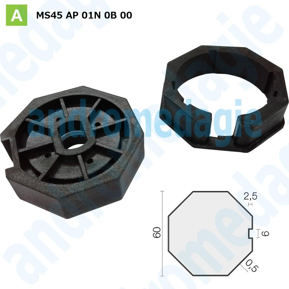 PULLEY OCTAGONAL CROWN Ø60 MM THICKNESS 0,5