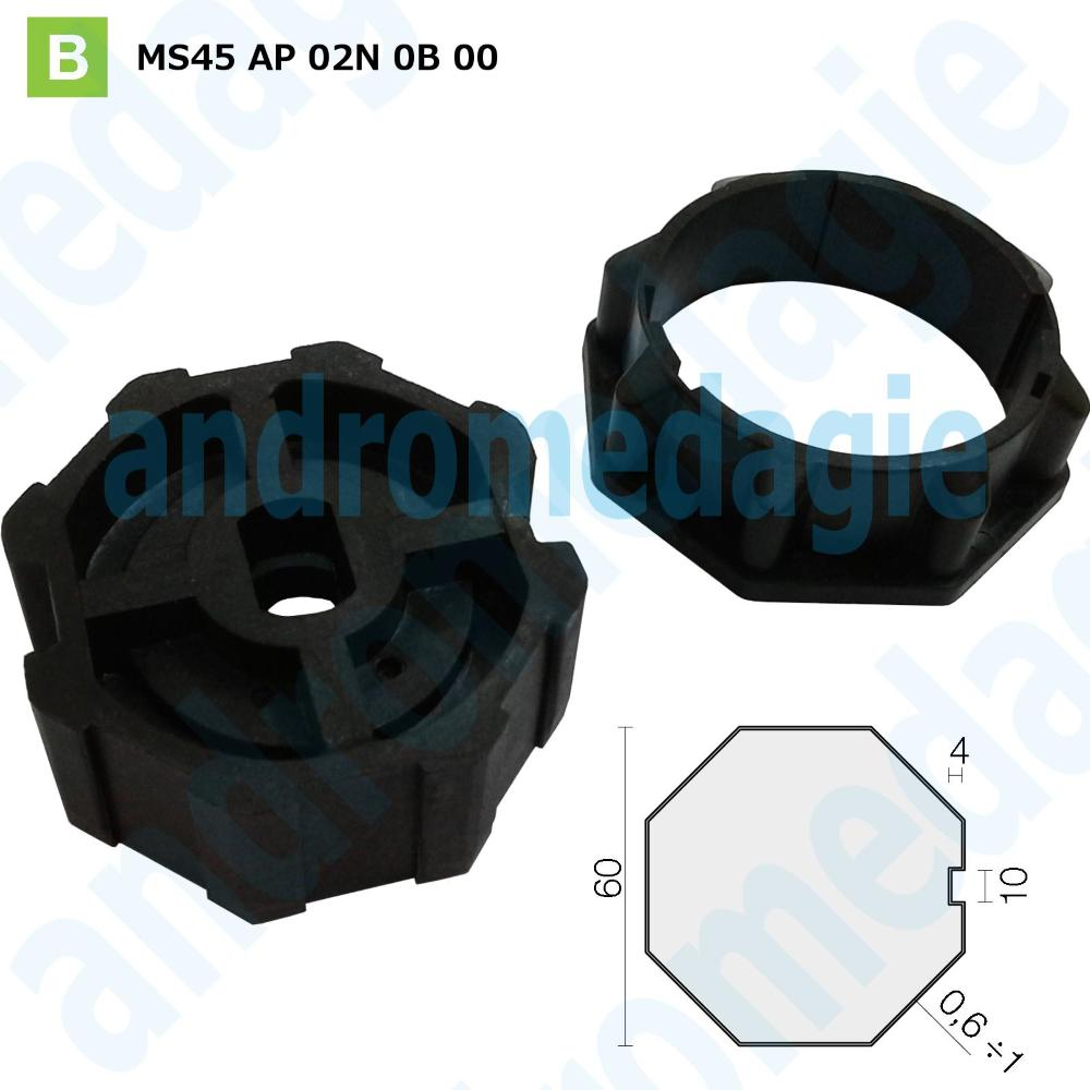 PULLEY OCTAGONAL CROWN Ø60 MM THICKNESS 1,0