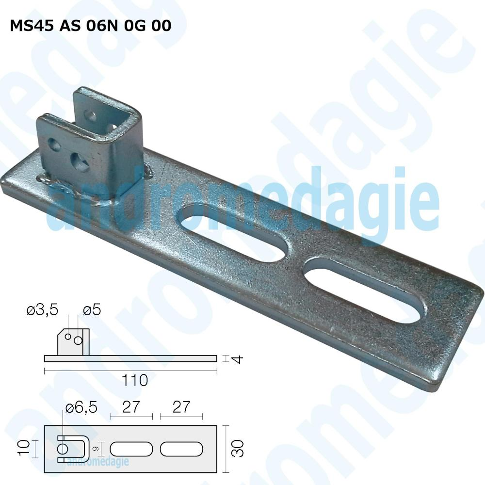 ADJUSTABLE SUPPORT BRACKET GALVANIZED SLOT