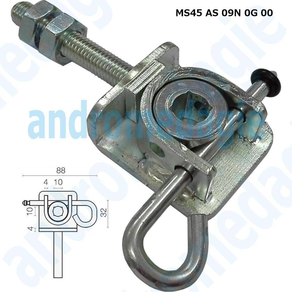 ADJUSTABLE SUPPORT BRACKET WITH GALVANIZED PIN A