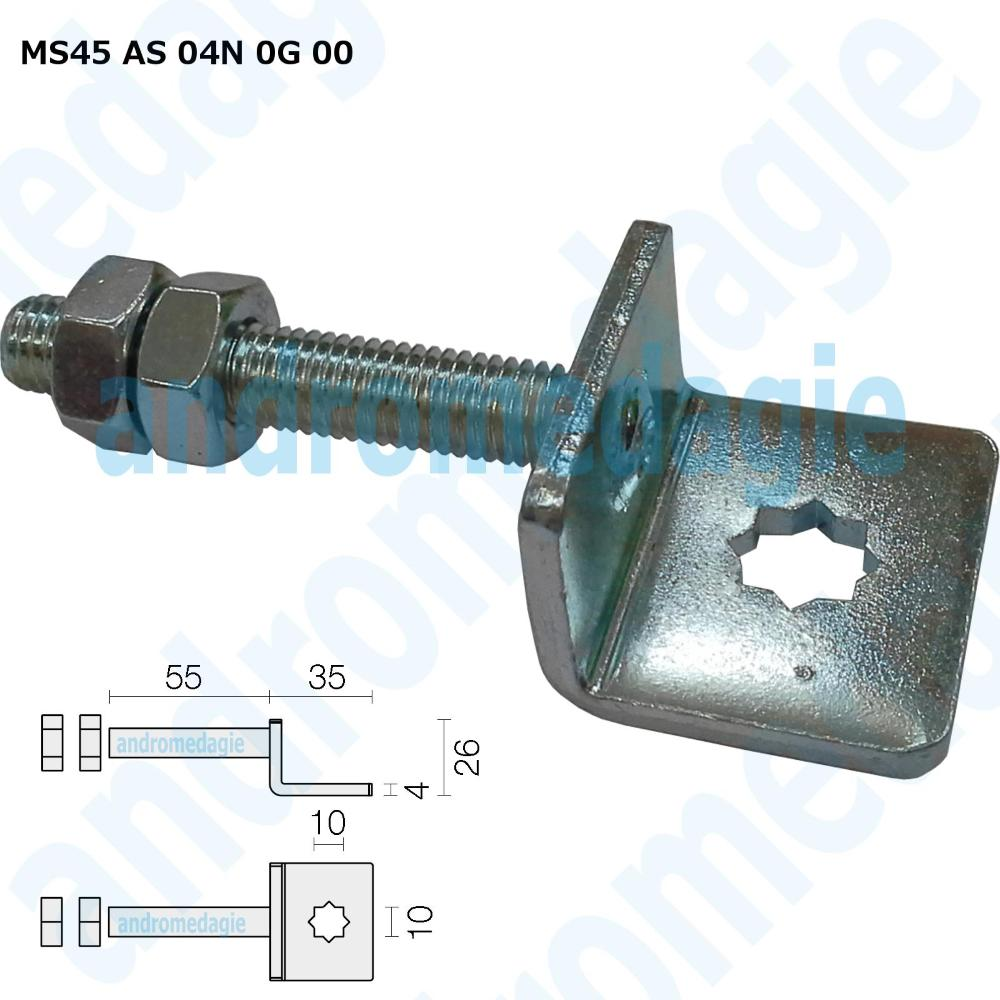 ADJUSTABLE SUPPORT BRACKET WITH GALVANIZED SCREW