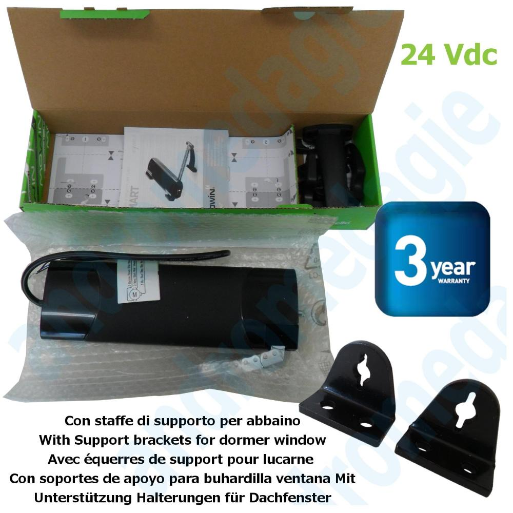 SMART 24V NOIR + SUPPORTS DE LUCARNE NOIR