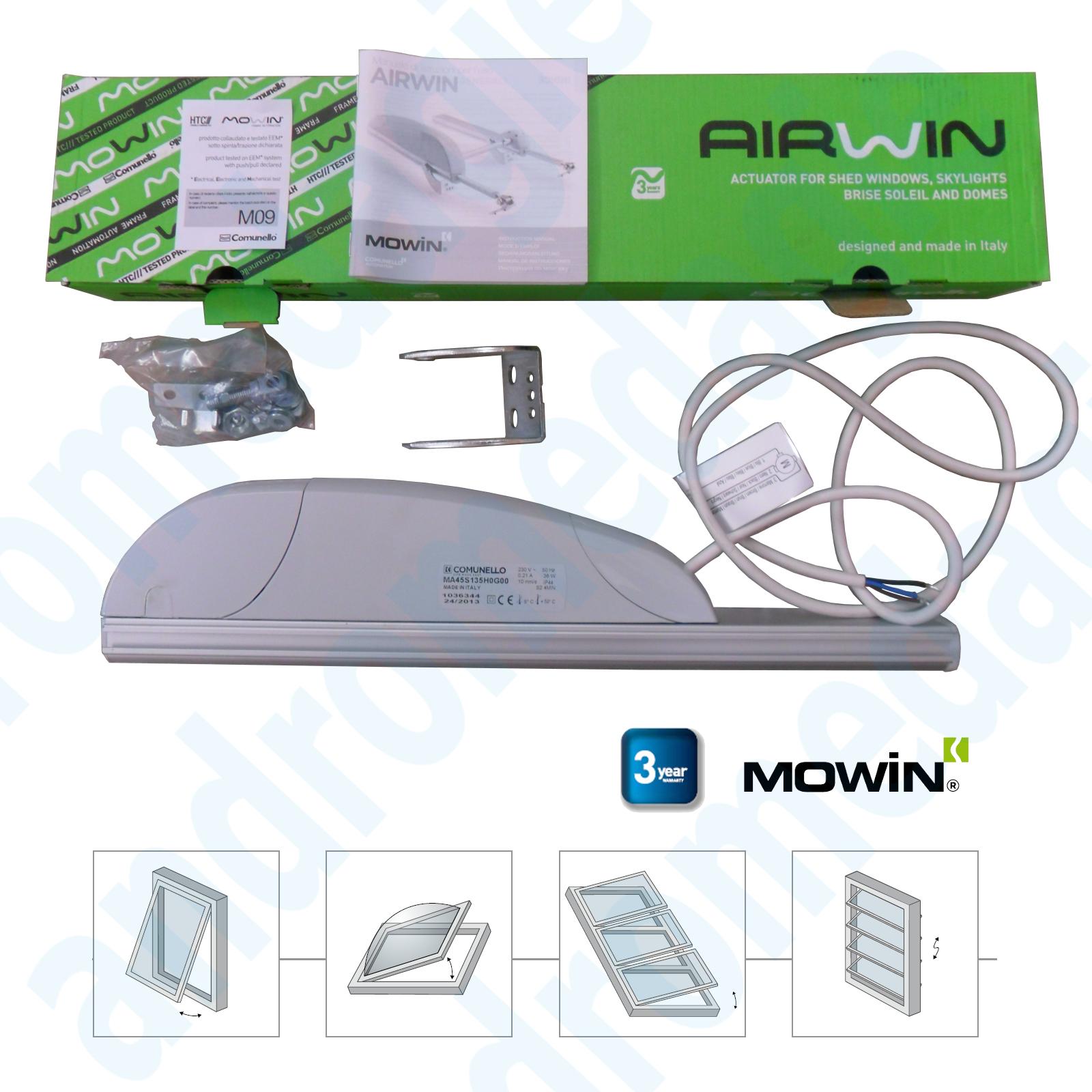 AIRWIN 450N 24V HUB=1000MM Rack Stellantrieb Fensteröffner Dachfenster Kuppeln
