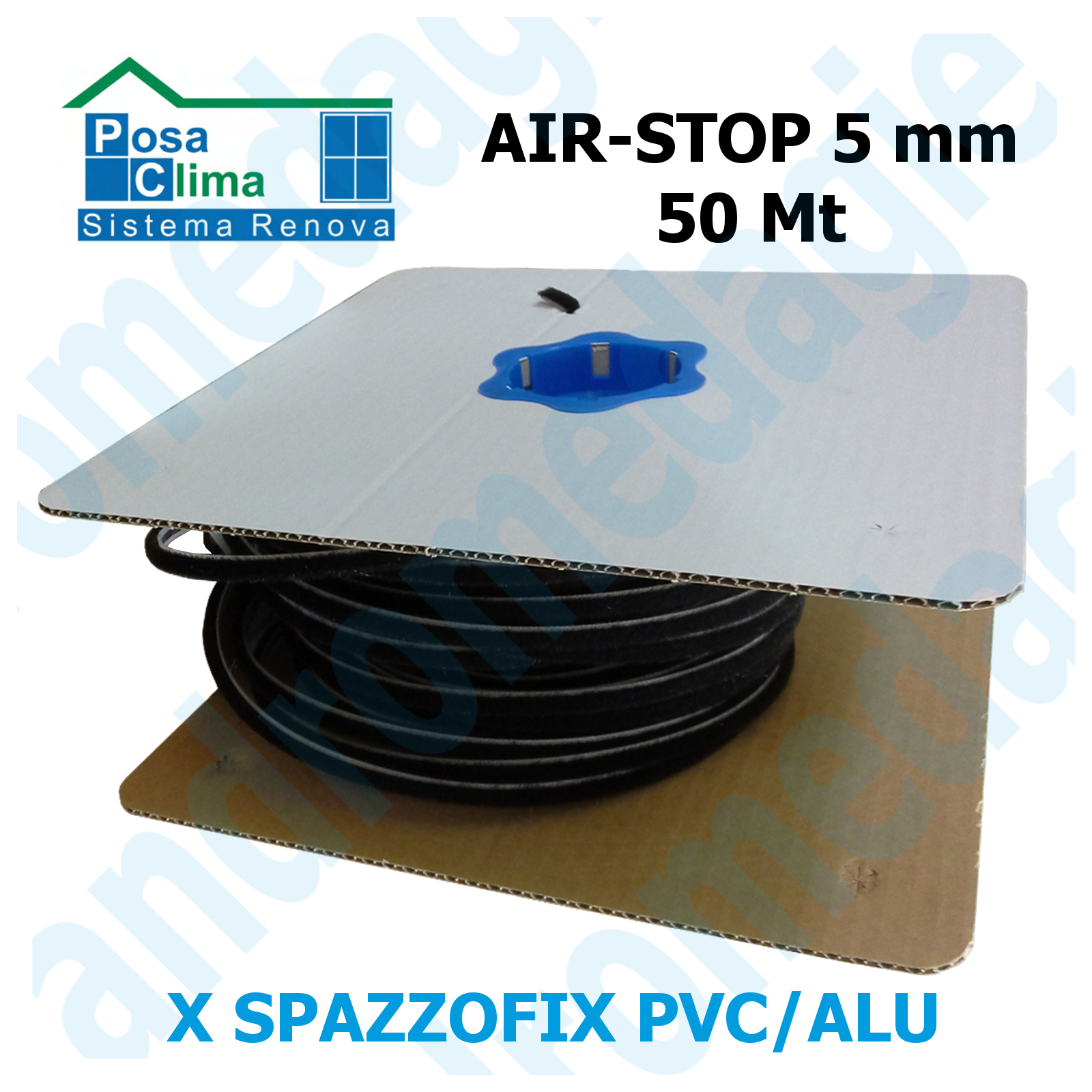 AIR-STOP 10MMx3MT Spazzolino di tenuta per Spazzofix Alu//Pvc