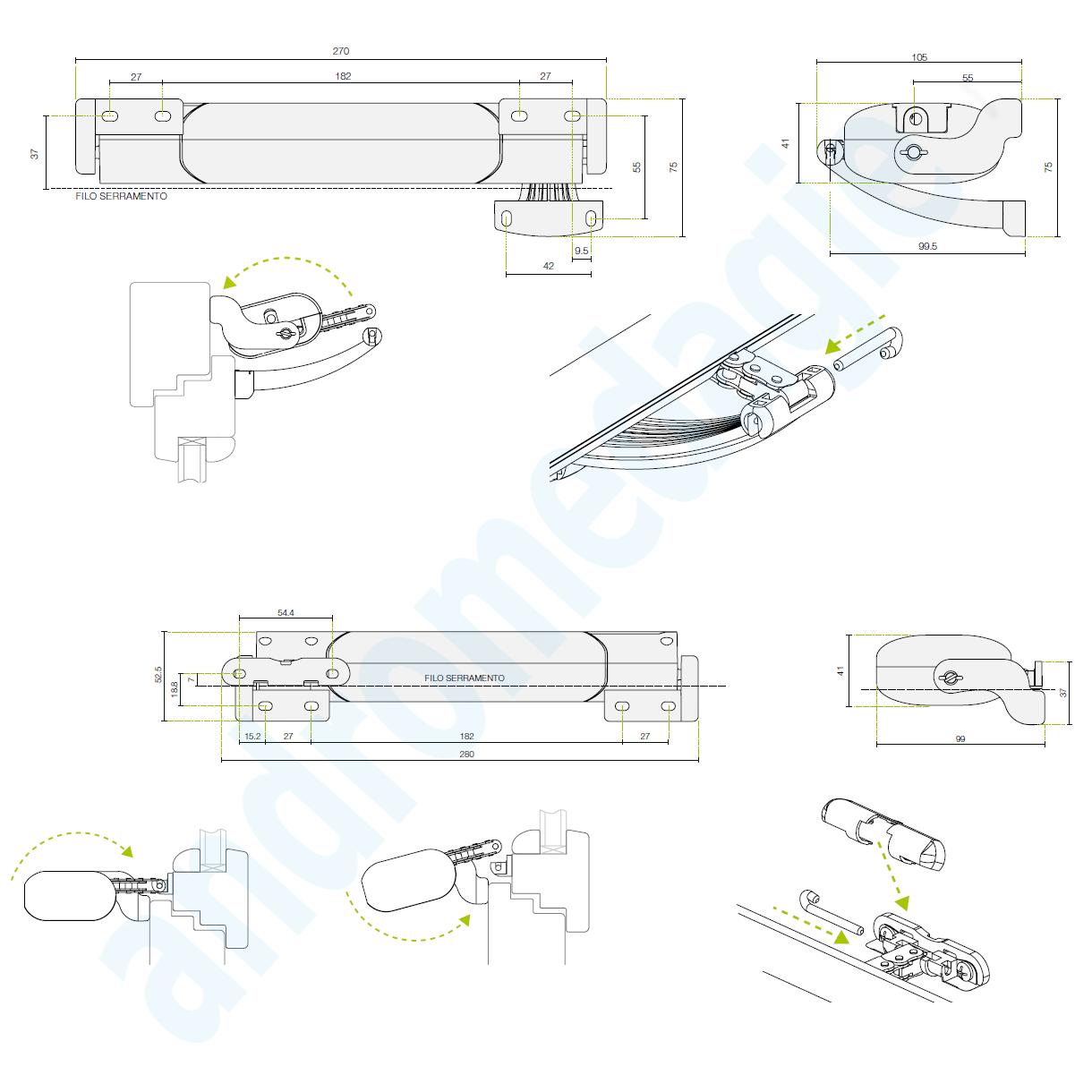 smart 230v bianco mowin motore a catena per finestre vasistas lucernai sporgere